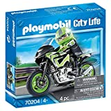 PLAYMOBIL PLAYMOBIL-70204 City Moto+Motorista, Multicolor, Talla única (70204)