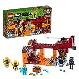LEGO Minecraft - El Puente del Blaze, Set de construcción inspirado en el videojuego, juguete para recrear aventuras en el Nether, incluye el esqueleto Wither, novedad 2019 (21154)