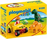 PLAYMOBIL 1.2.3-9120 Quad con 2 Dinos, Multicolor, única (9120)