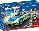 PLAYMOBIL- City Action Porsche 911 Carrera 4S - Figura de policía, Color carbón (70067)
