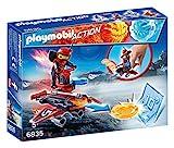 Playmobil Fire & Action- Action Playmobil Robot con Nave Lanzadera de Fuego Playsets de figuras de juguete, Multicolor (6835)