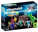 PLAYMOBIL-Guerrero Alien con Trampa por T-Rex Personajes de la Serie Super 4, Multicolor, 24,8 x 7,2 x 18,7 cm 9006