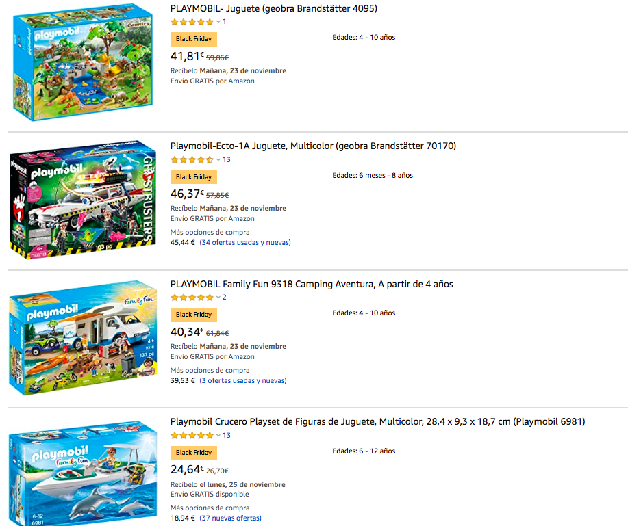 blackfriday playmobil amazon