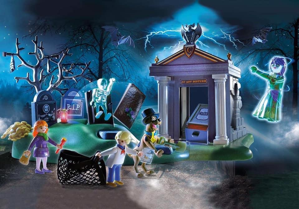 playmobil scooby doo cementerio