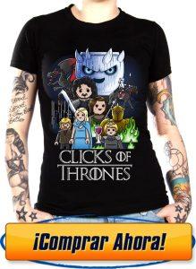 camiseta playmobil juego de tronos