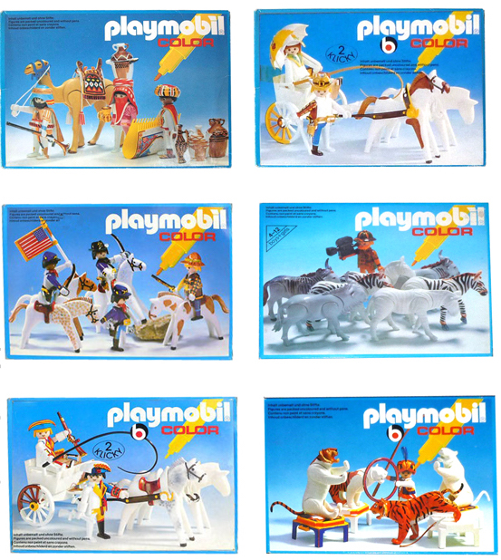 Playmobil color boxes