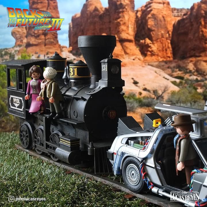 playmobil regreso al futuro tren